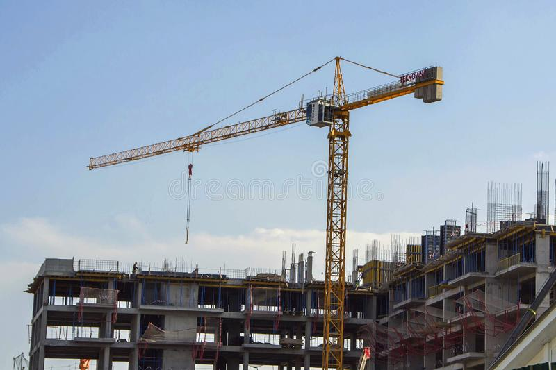 Construction of the new building royalty free stock photography
