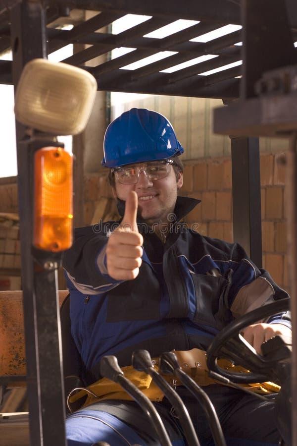Workerer da construção no local de trabalho fotografia de stock