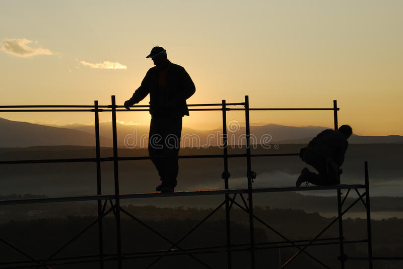 Download Workers stock image. Image of croatia, background, silhouette - 11392497