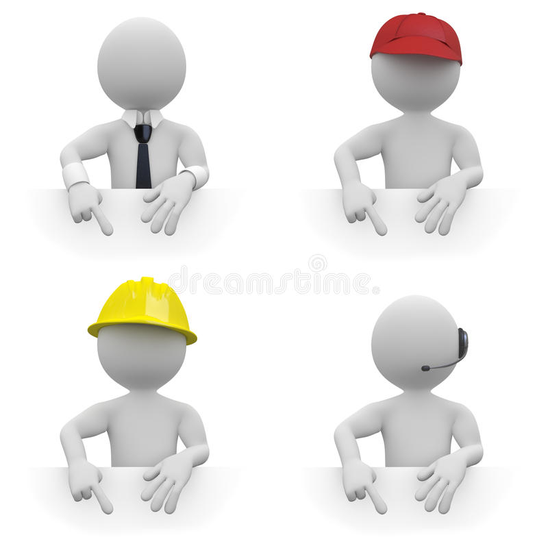 Download Workers With Area To Fill With Text Stock Illustration - Image: 19311526