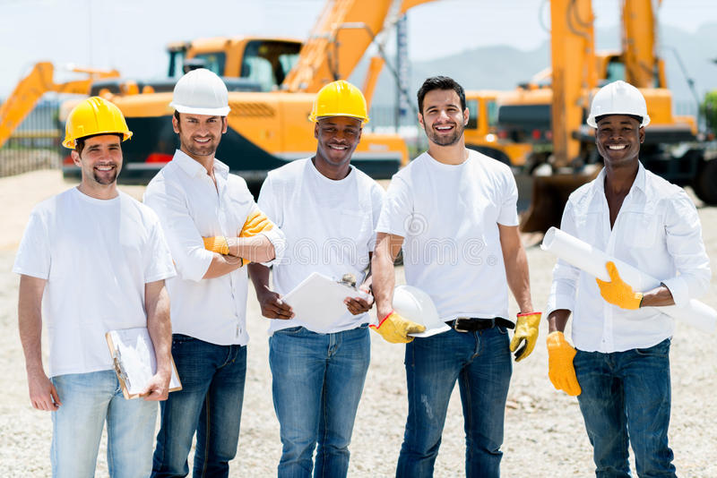 Download Workers at a building site stock image. Image of latinamerican - 32930903