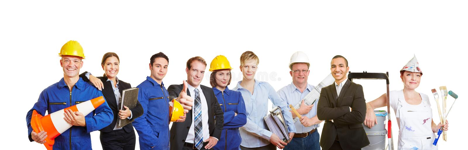 Workers and business people royalty free stock image