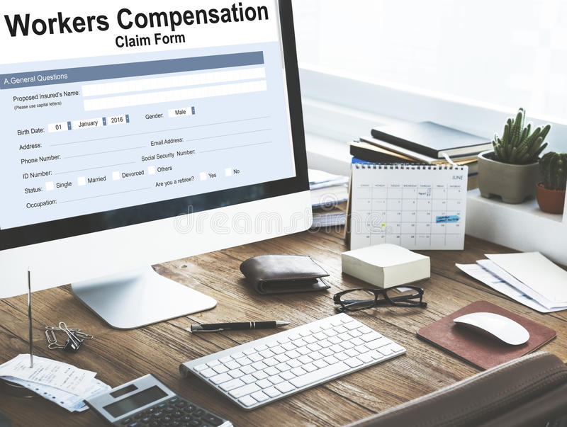 Workers Compensation Claim Form Insurance Concept. Workers Compensation Claim Form Insurance royalty free stock images