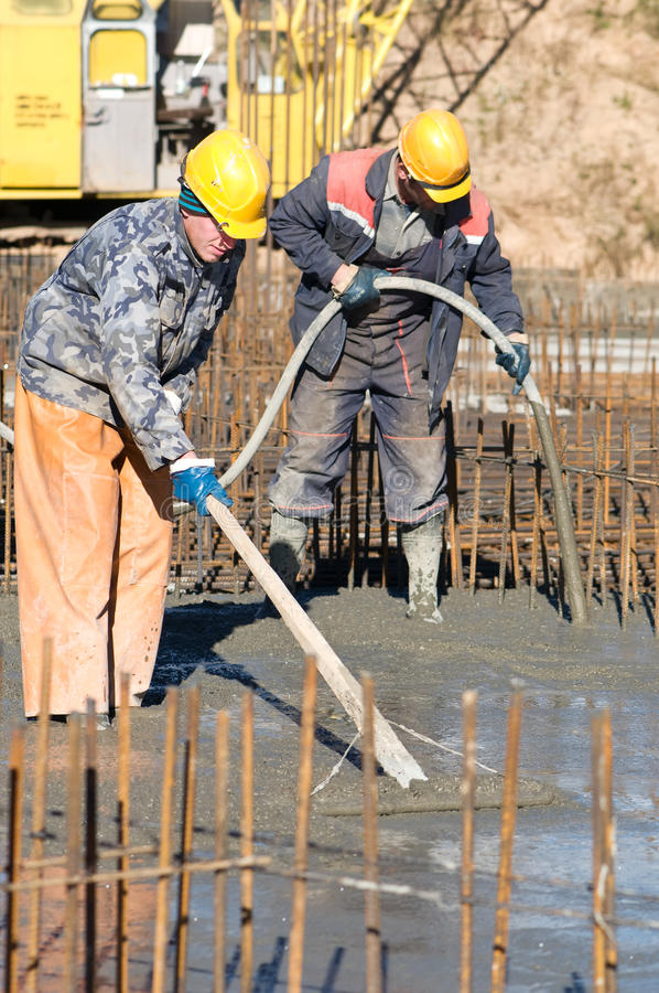 Download Workers on concrete works stock image. Image of aiming - 16649133