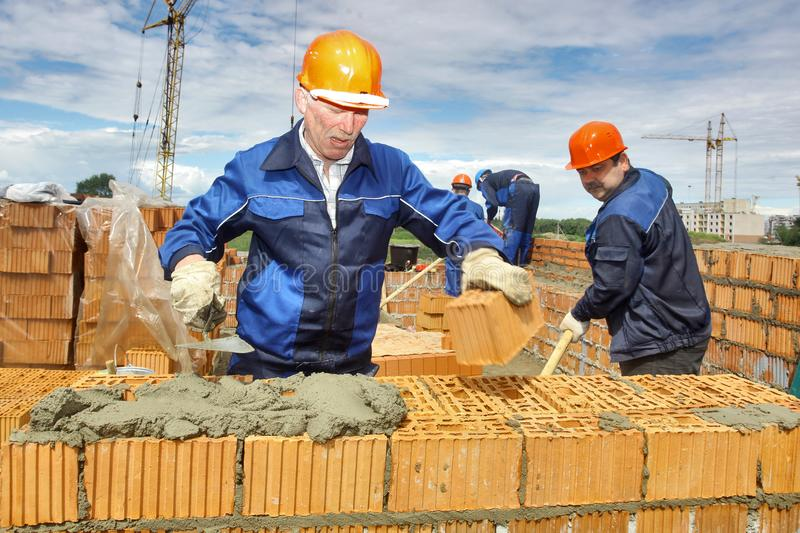 Workers at the construction site. royalty free stock photos
