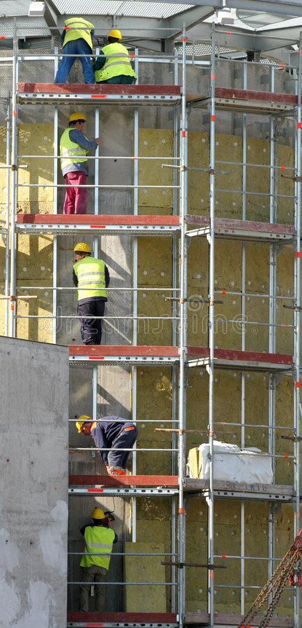 Download Workers on falsework stock image. Image of high, scaffold - 2317541