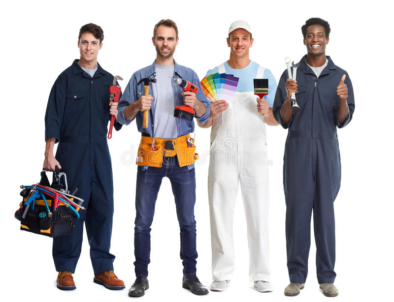 Workers group. stock images