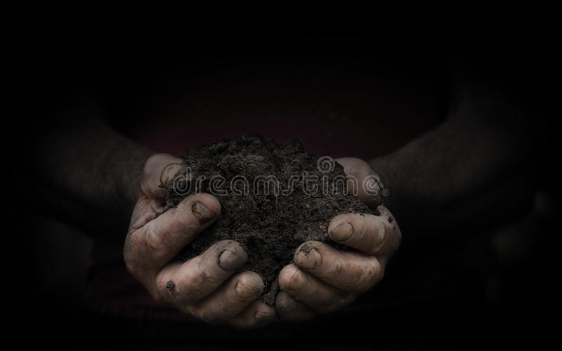 Workers hands with a handful stock images