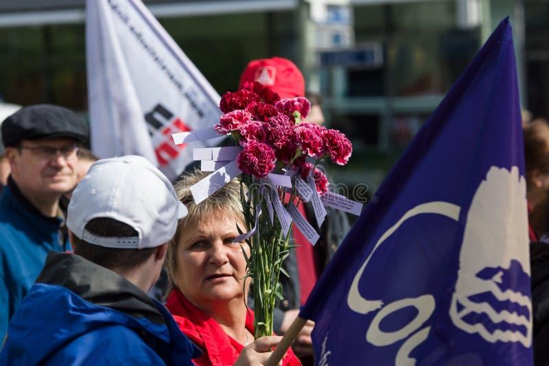 Workers' international ; Jour 1er mai 2016, Berlin, Allemagne images libres de droits