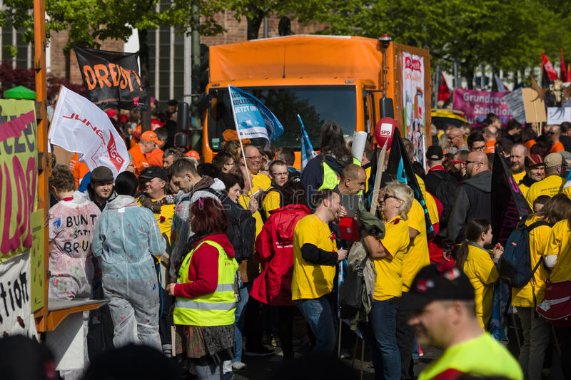 Workers' international ; Jour 1er mai 2016, Berlin, Allemagne photographie stock