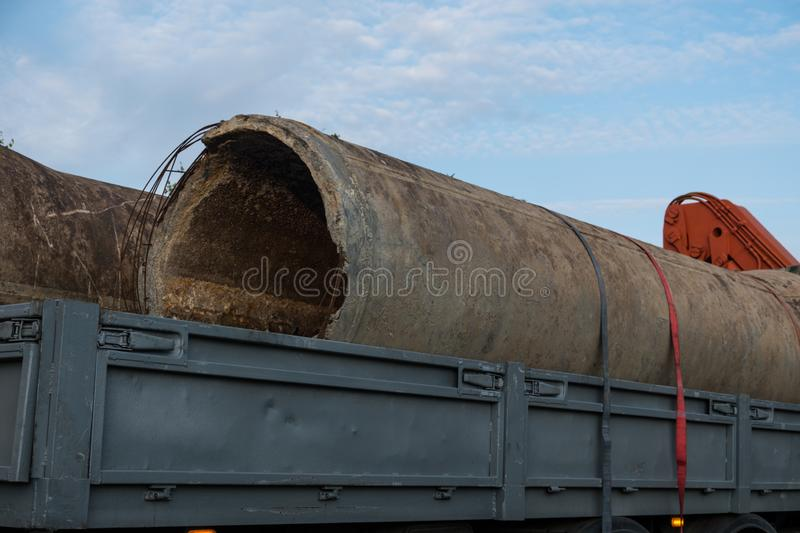 The hydraulic system of the crane. stock images