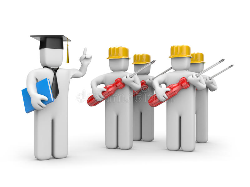 Download Workers And Lecturer Or Academic Stock Illustration - Image: 13713187