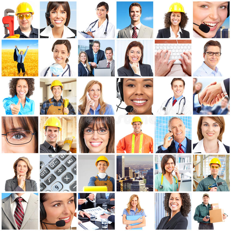 Workers people royalty free stock photo