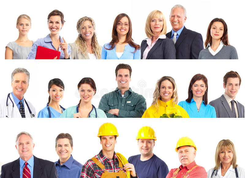 Workers people stock image
