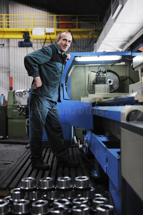 Workers people in factory royalty free stock image