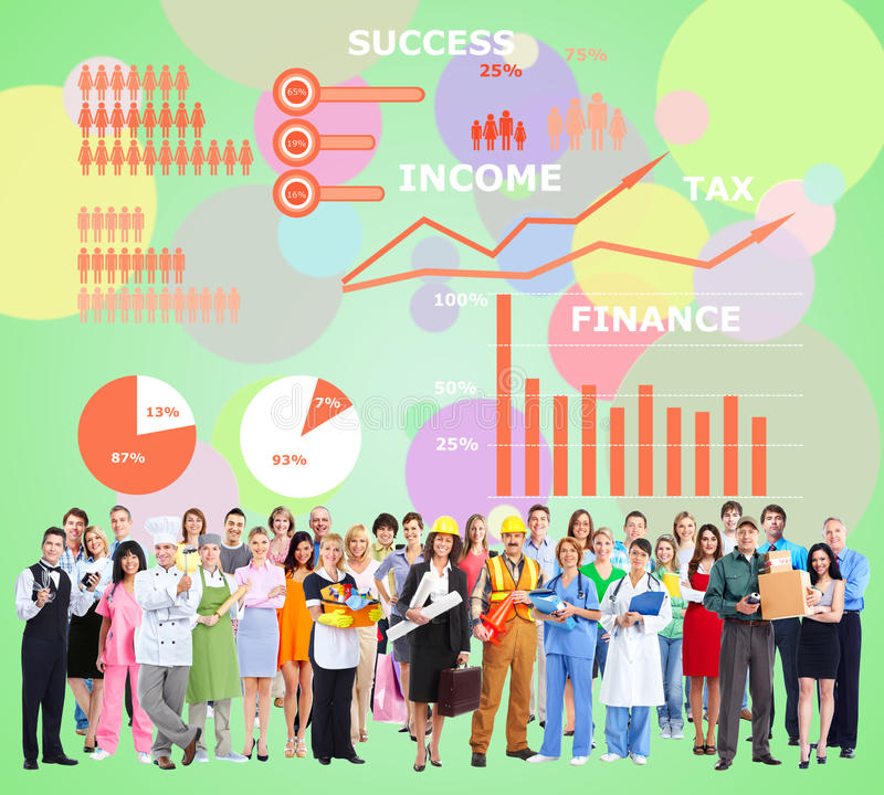 Workers people group. royalty free stock images