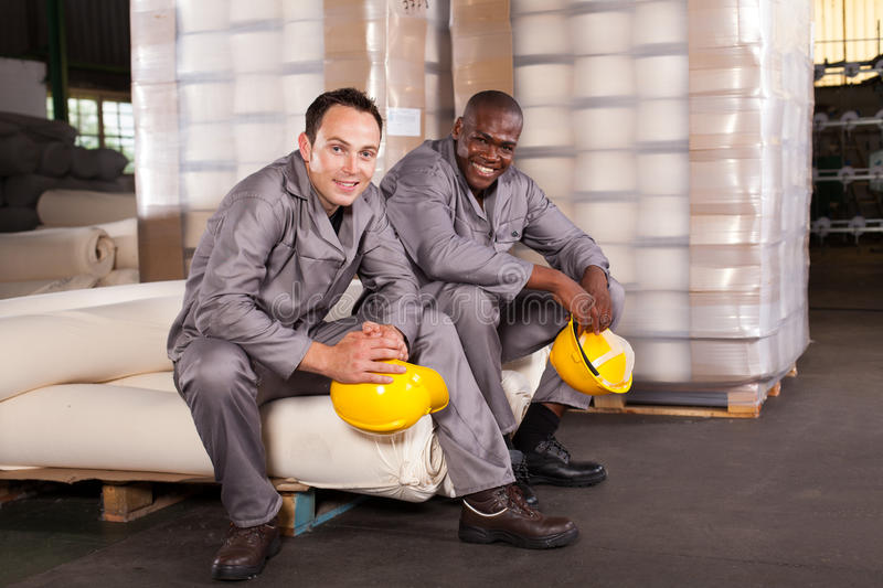 Workers relaxing royalty free stock images