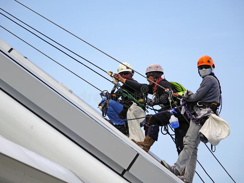 Workers On Safety Harnesses Free Public Domain Cc0 Image