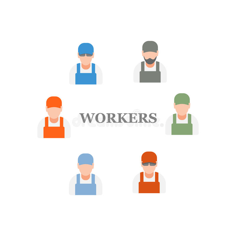 Workers royalty free illustration
