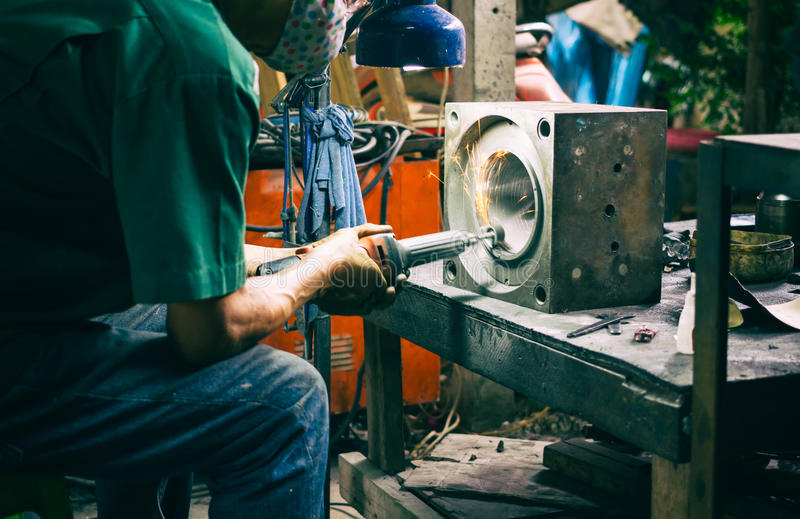 Workers in the steel industry.  royalty free stock photo