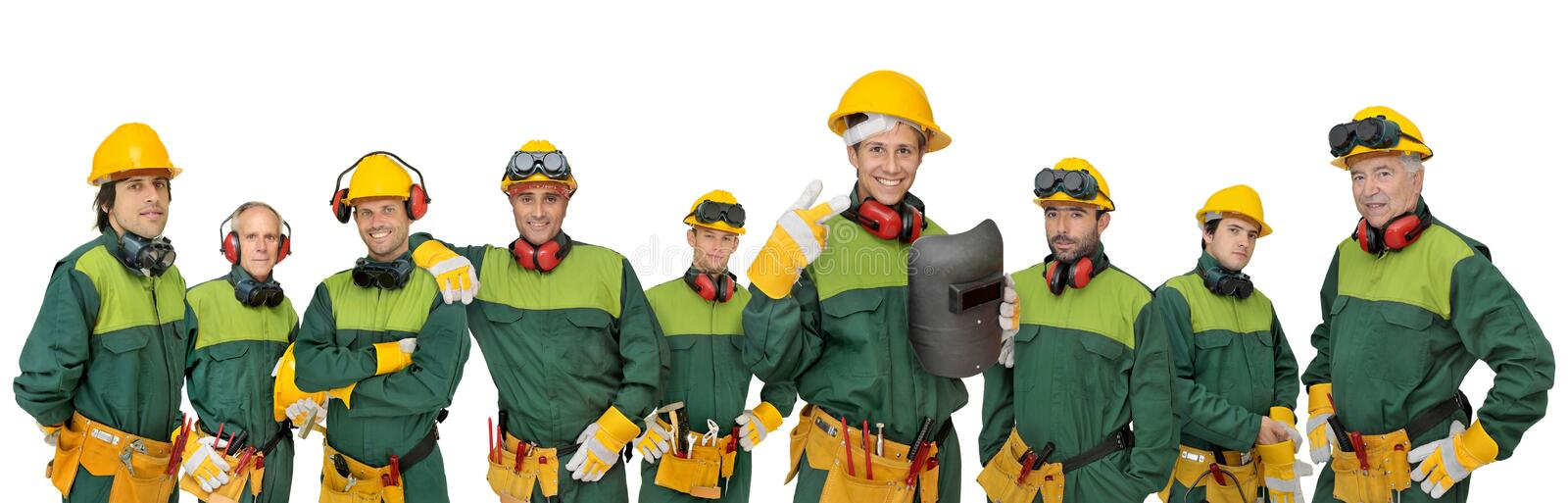 Workers team royalty free stock photos
