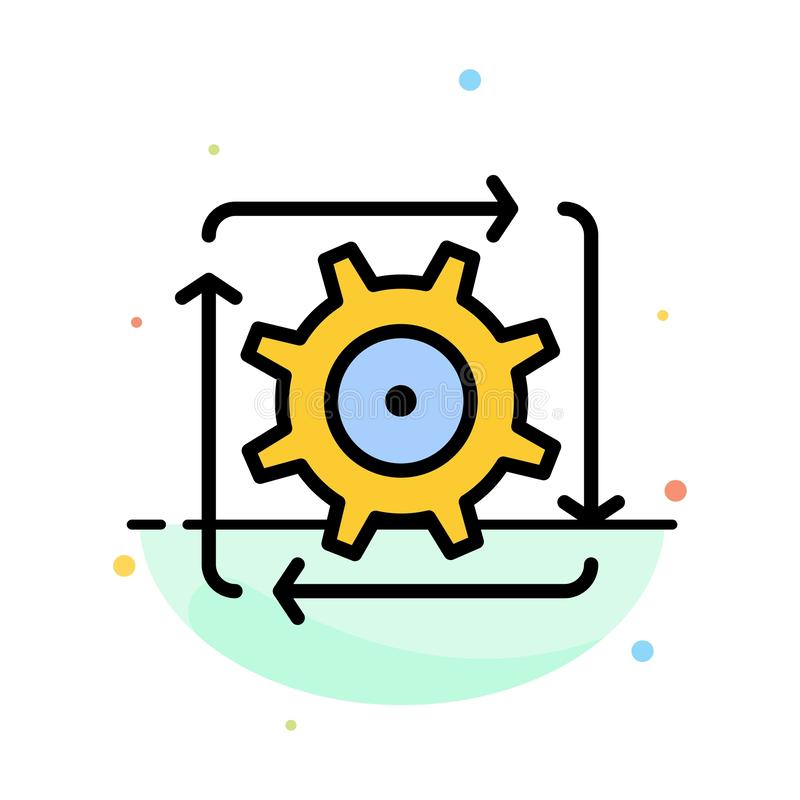 Workflow, Automation, Development, Flow, Operation Abstract Flat Color Icon Template stock illustration