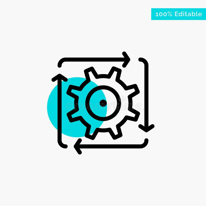 Workflow, Automation, Development, Flow, Operation turquoise highlight circle point Vector icon vector illustration