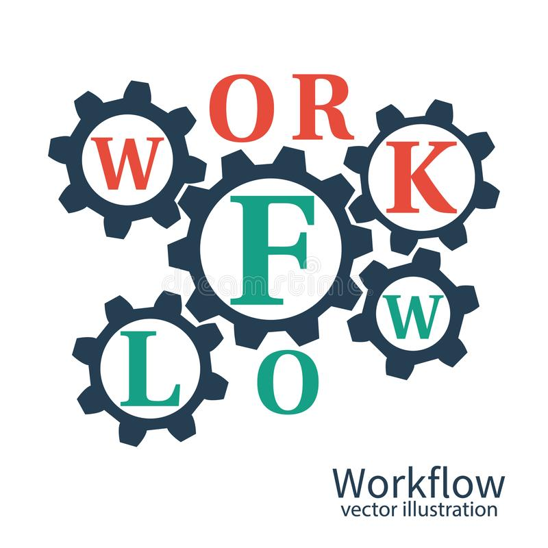Workflow business process royalty free illustration