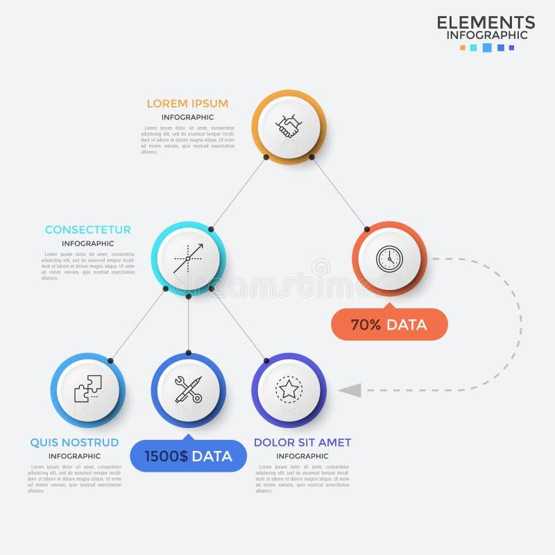 Modern infographic design template vector illustration