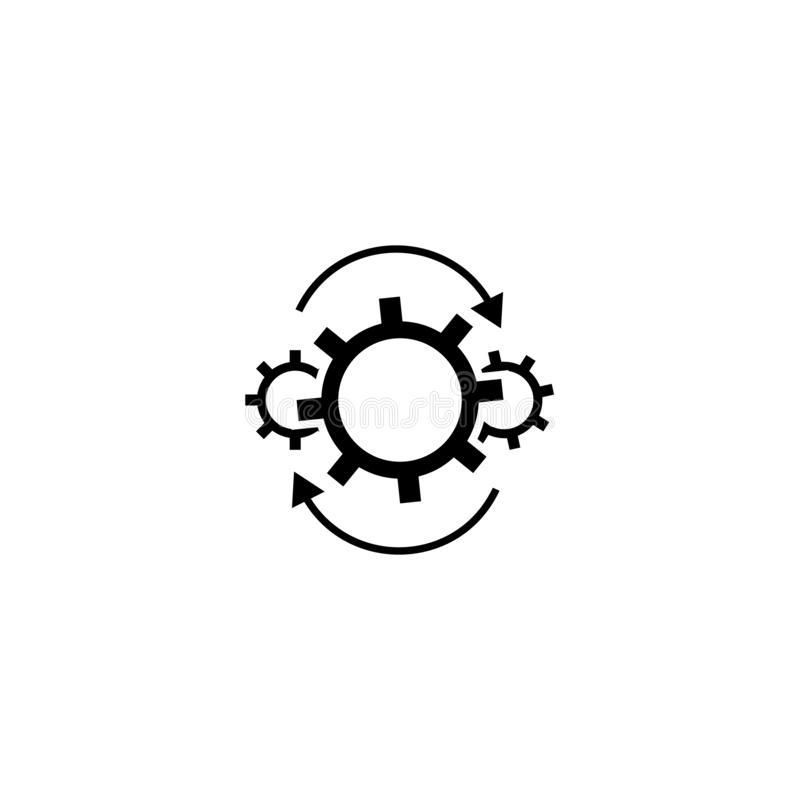 Workflow gears with arrows icon vector illustration