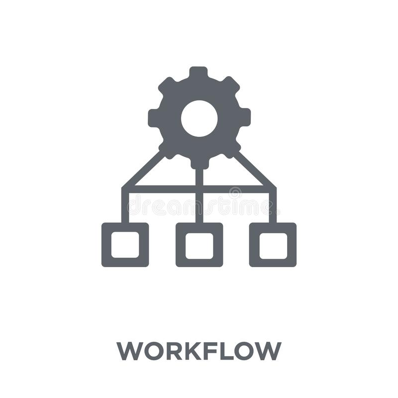 Workflow icon from collection. Workflow icon. Workflow design concept from collection. Simple element vector illustration on white background royalty free illustration