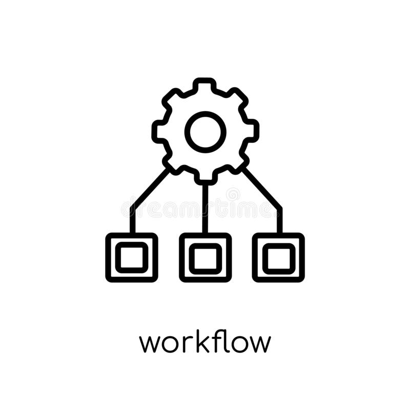 Workflow icon from collection. stock illustration