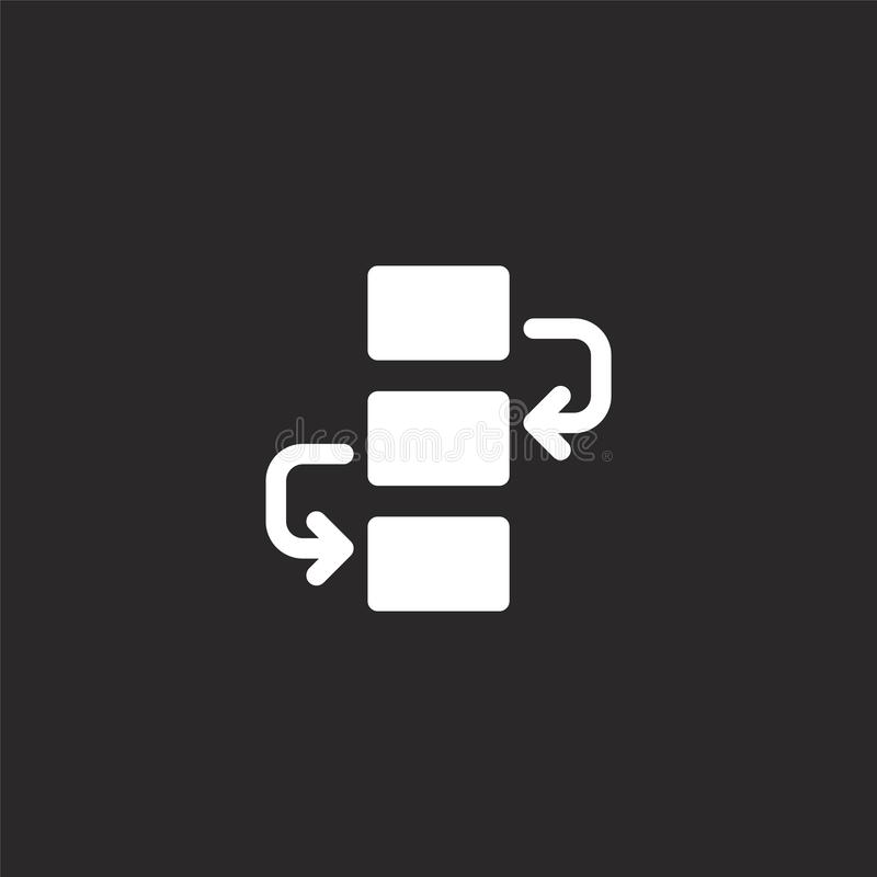 workflow icon. Filled workflow icon for website design and mobile, app development. workflow icon from filled development vector illustration