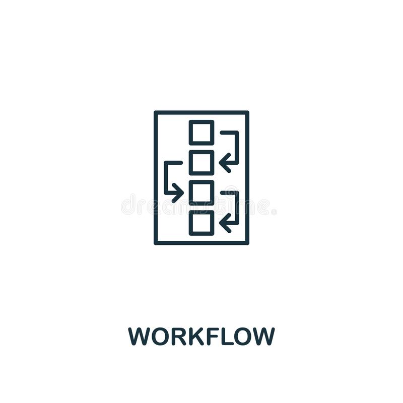 Workflow icon. Premium style design from design ui and ux icon collection. Pixel perfect Workflow icon for web design, apps, vector illustration