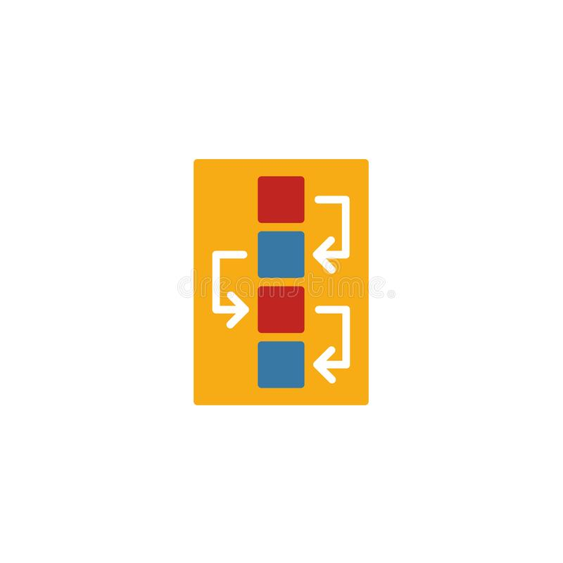 Workflow icon. Simple flat element from design ui and ux collection. Creative workflow icon for templates, software and apps.  royalty free illustration