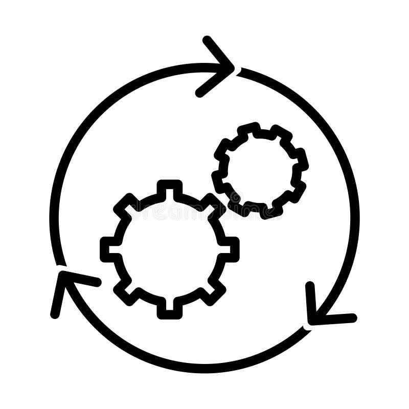 Workflow icon vector illustration. On white vector illustration