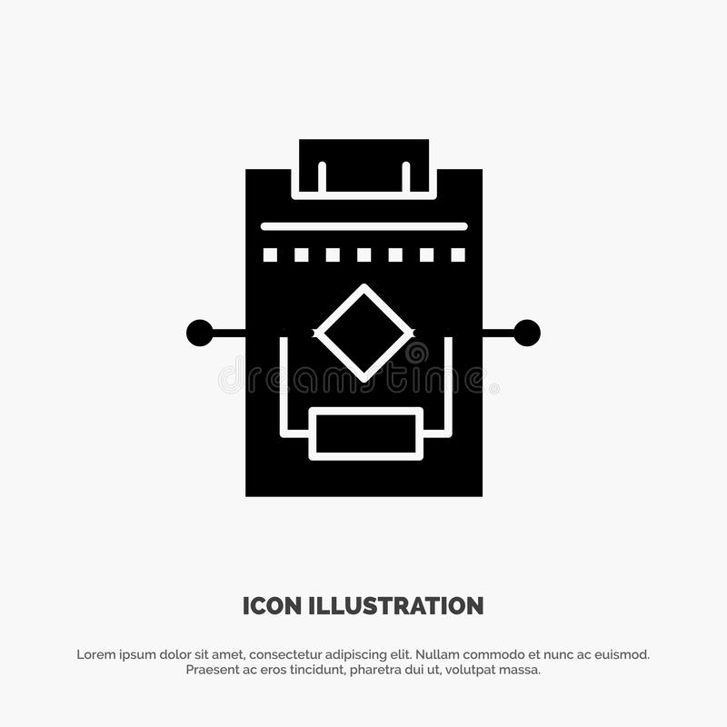 Workflow, Network, Process, Settings solid Glyph Icon vector vector illustration