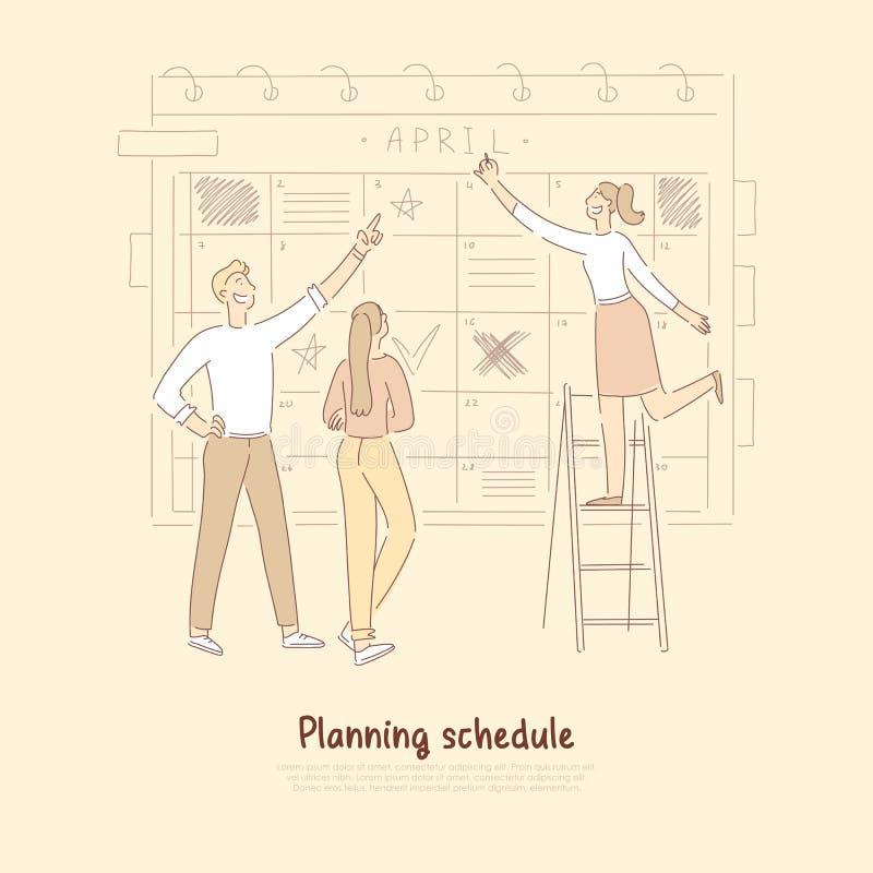 Workflow optimization, business development team, efficiency, productivity increase, time management banner vector illustration