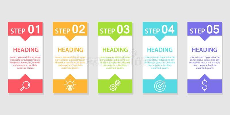 Workflow, startup begrepps-, för rengöringsdukdesign, datavisualization-, baner-, broschyr- eller reklambladorienteringar, presen royaltyfri fotografi