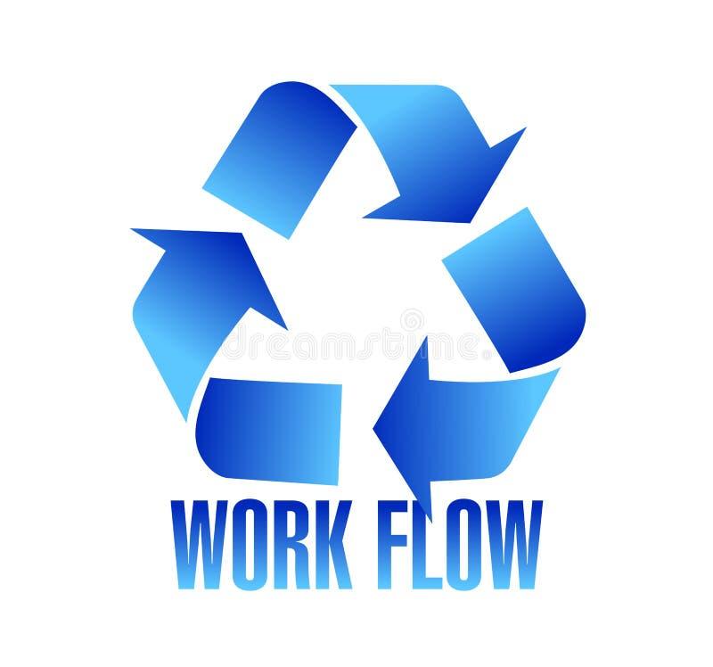 workflow symbol illustration design stock illustration