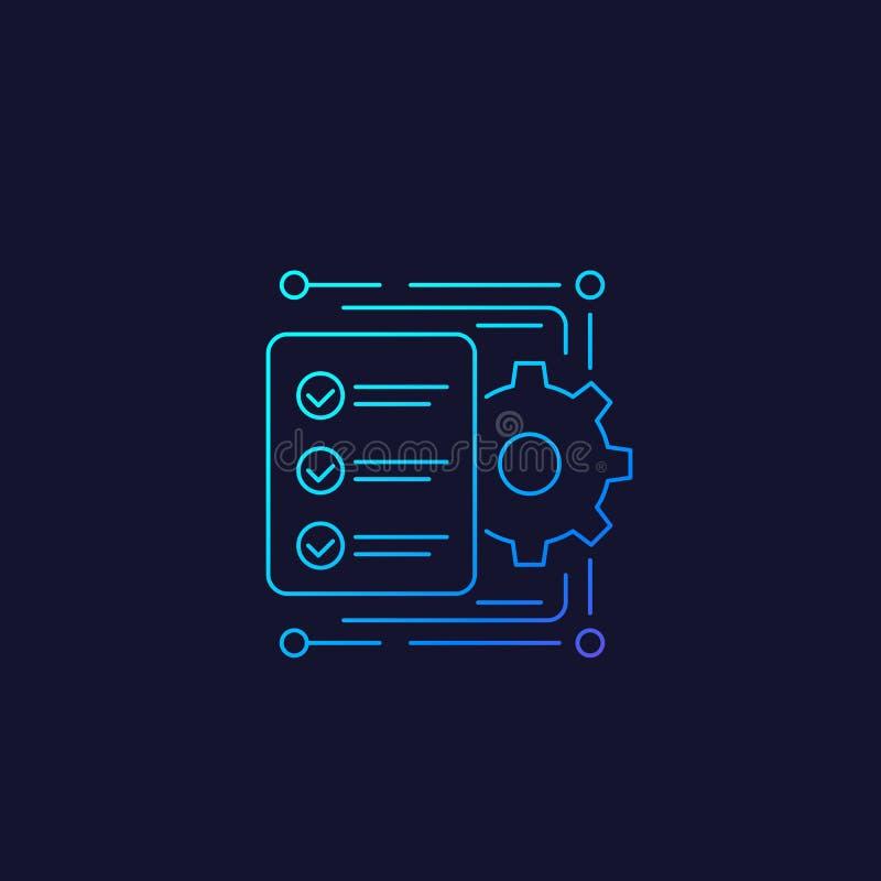 Workflow-Symbol, linear lizenzfreie abbildung
