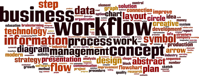 Workflow word cloud. Concept. Vector illustration vector illustration