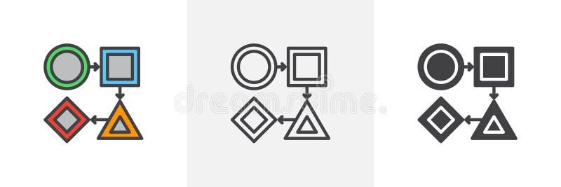 Workflowsymbol royaltyfri illustrationer
