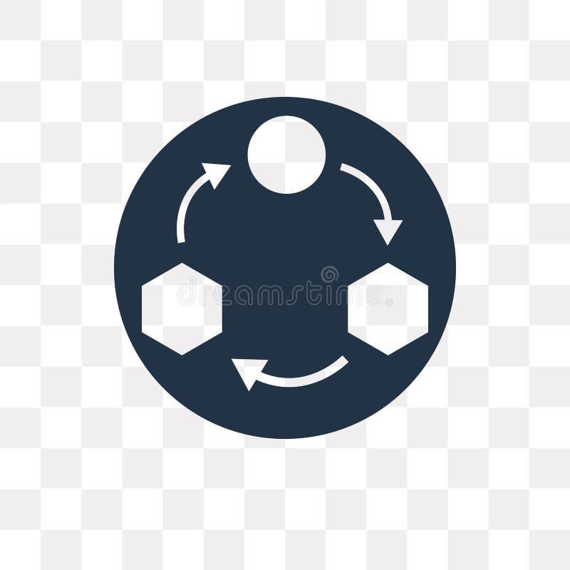 Workflowvektorsymbol som isoleras på genomskinlig bakgrund, Workflo stock illustrationer