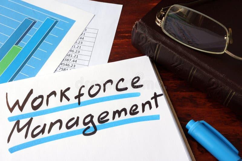 Workforce management. stock photo