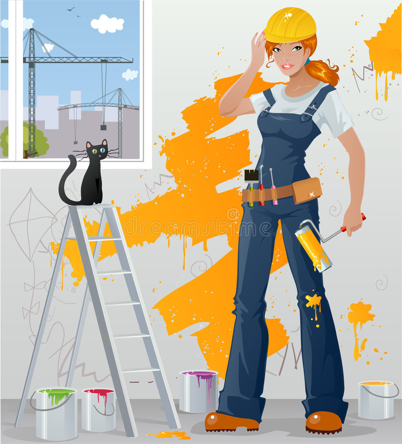 Workgirl illustrazione vettoriale