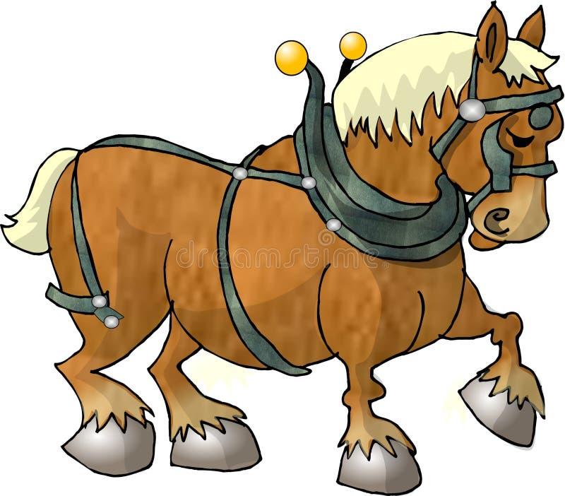 workhorse royaltyfri illustrationer