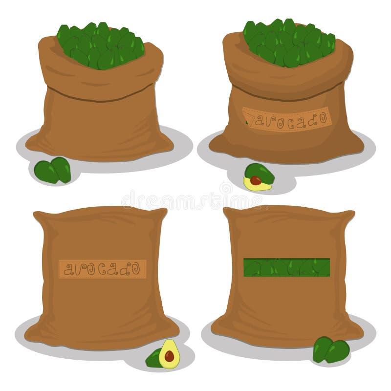 Worki z naturalnym jedzeniem ilustracja wektor