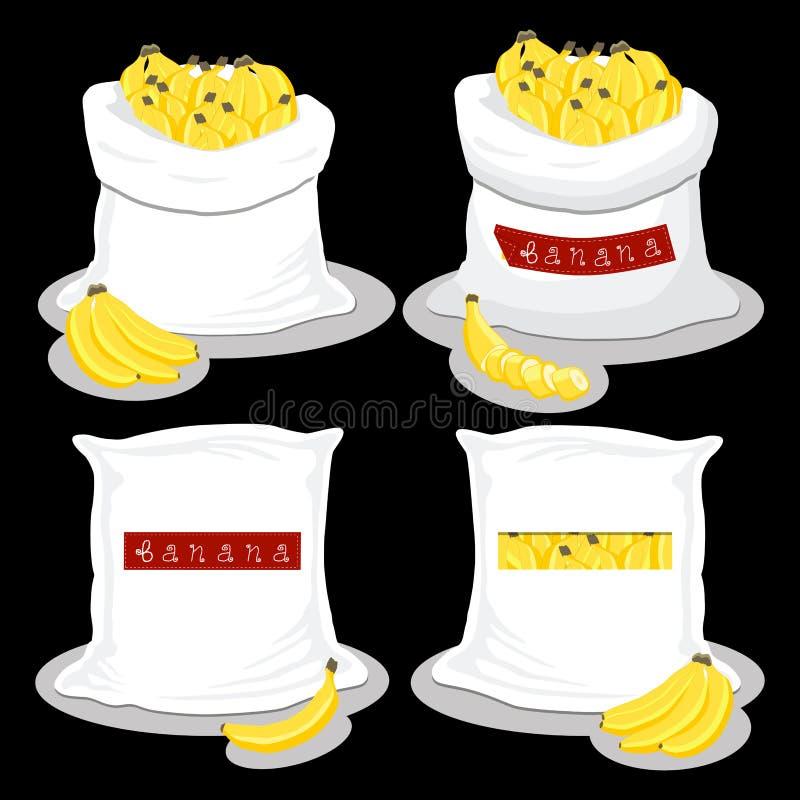 Worki z naturalnym słodkim jedzeniem ilustracji