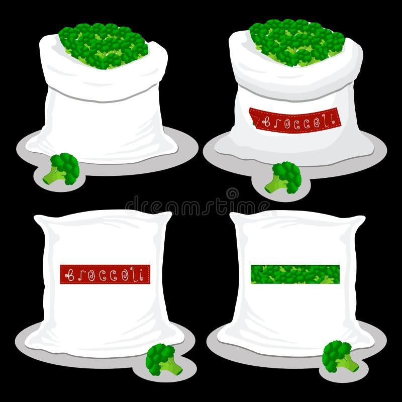 Worki z naturalnym słodkim jedzeniem royalty ilustracja